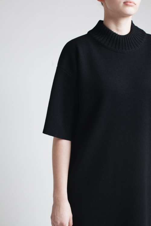 Charlie May black merino knit tee