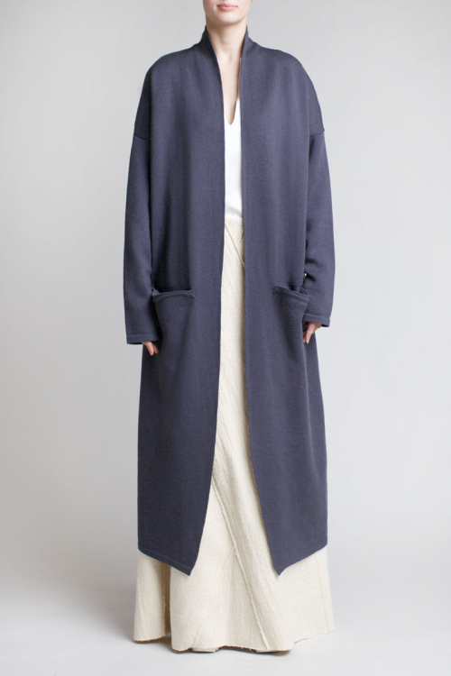 Charlie May Charcoal knit Coat