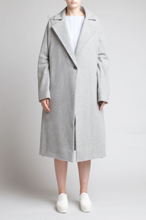 Charlie May Grey Wool Kimono Coat