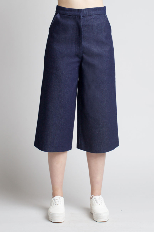 Charlie May Indigo Denim Culottes