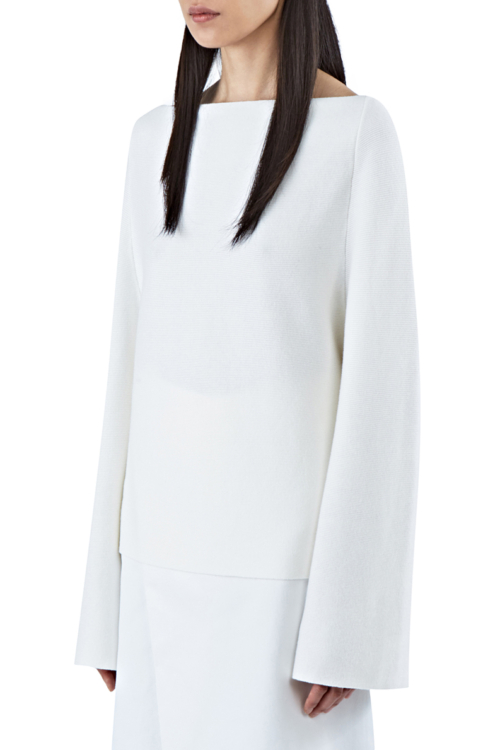 Charlie May belle sleeve white sweater