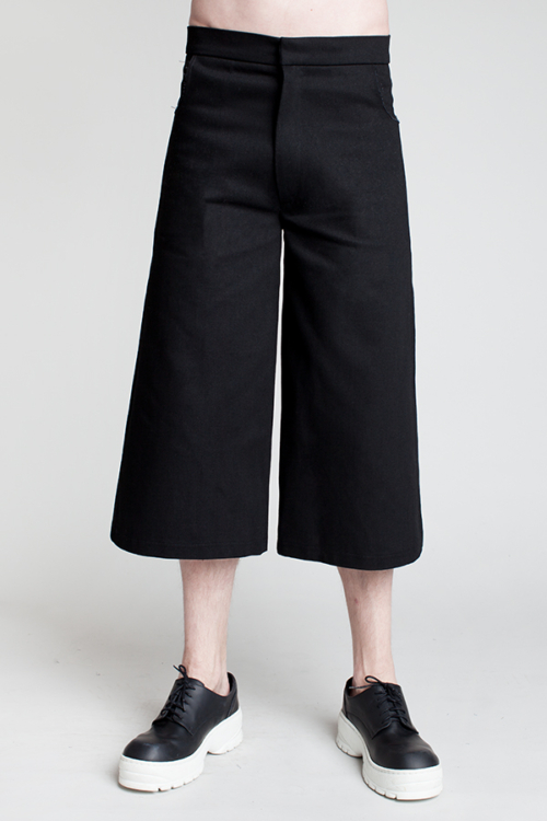 charlie-may-man-black-denim-culottes-front