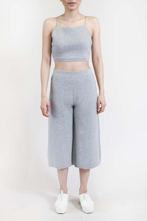 Charlie_May_Grey_Knit_Cami_Culottes Front_