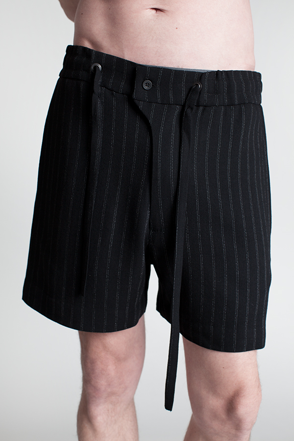 30d21f434f7a9 Pinstripe shorts with tie - Charlie May